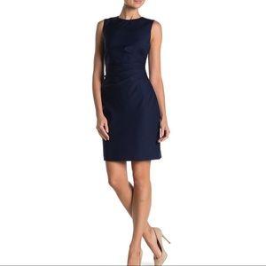 Theory Jorainna Sheath Wool Ruched Waist Dress